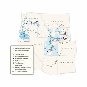 Rocky Mountain Power service area map