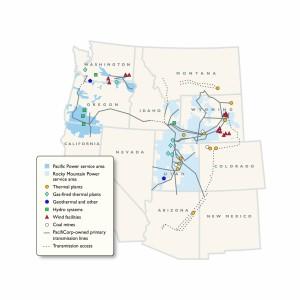 Rocky Mountain Power service area map