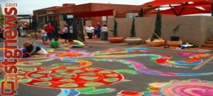 Kayenta Street Painting Festival, Ivins, Utah, April 13, 2013 | Photo by Alexa Verdugo Morgan, St. George News