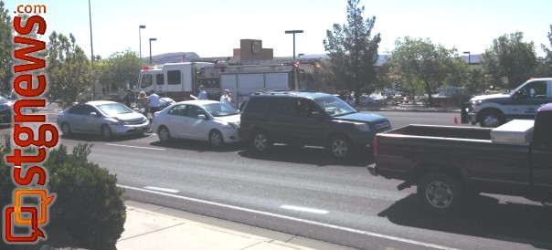A triple-vehicle accident slowed traffic around 716 West Telegraph Road Monday. The incident was relatively minor according to the Washington City Police Department, Washington, Utah, April 29, 2013 | Photo by Mori Kessler, St. George