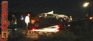 Fatal rollover on SR-18, St. George, Utah, April 25, 2013 | Photo courtesy of Stacia Mikhayle