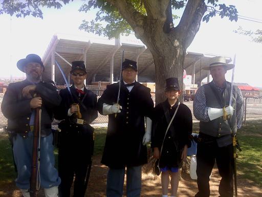 Dixie Blue & Grey Civil War Living History Association Civil War recreation, St. George, Utah, 2012   Photo courtesy of Tim Metzinger