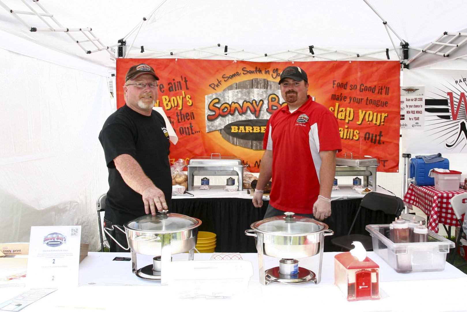 Lon Allen and Scott Allen vending for Sonny Boy's Barbecue, Southern Utah Culinary Festival, Vernon Worthen Park, St. George, Utah, April 26, 2013 | Photo by A.J. Mellor, St. George News