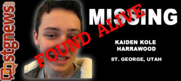 Missing St  George boy, Kaiden Kole Harrawood, found alive