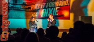 """Mikalene and Brett Ispon performing """"The Prayer"""" at Pay It Forward for Dixie, St. George, Utah, April 20, 2013 