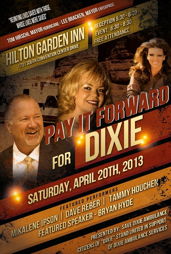 Promotional poster courtesy of Pay It Forward for Dixie