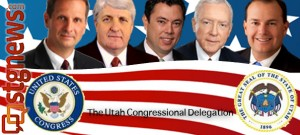 From L to R: Rep. Chris Stewart, Rep. Rob Bishop, Rep. Jason Chaffetz, Sen. Orrin Hatch, Sen. Mike Lee; Utah Rep. Jim Matheson is not shown as he did not participate in the subject matter involved in this report | Image by Sarafina Amodt, St. George News