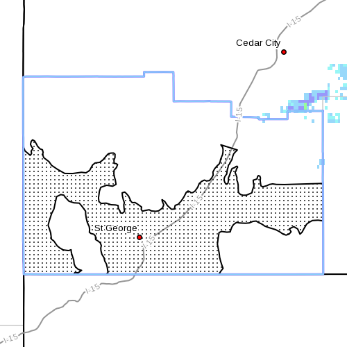 Affected areas in the county for Apirl 30, 2013 | Image courtesy of the National Weather Service