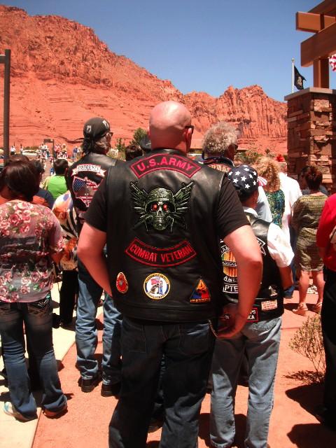 Veterans and citizens at the dedication of the Southern Utah Veterans Home, Ivins, Utah, May 23, 2013   Photo by Alexa Verdugo Morgan, St. George News
