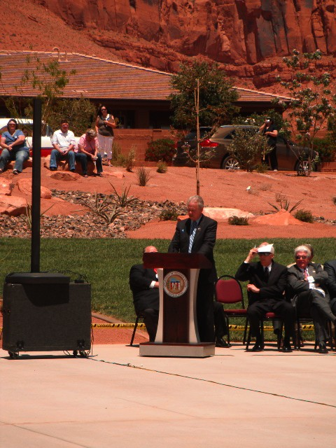 Mayor Chris Hart speaks at the dedication of the Southern Utah Veterans Home, Ivins, Utah, May 23, 2013 | Photo by Alexa Verdugo Morgan, St. George News