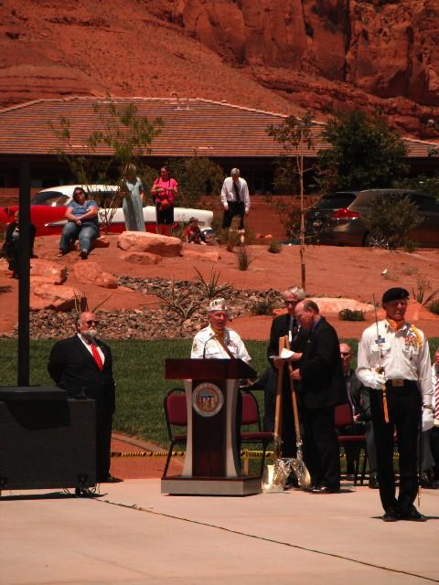 Korean War veteran Bill Stay speaks at the dedication of the Southern Utah Veterans Home, Ivins, Utah, May 23, 2013   Photo by Alexa Verdugo Morgan, St. George News