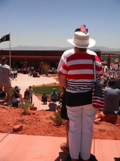 Patriotic citizens at the dedication of the Southern Utah Veterans Home, Ivins, Utah, May 23, 2013   Photo by Alexa Verdugo Morgan, St. George News