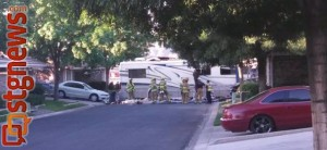 A motorhome veered off of southbound I-15 and crashed into the back of the Snow Haven Townhomes, killing two and injuring 8 others, St. George, Utah, May 24, 2013 | Photo by Mori Kessler, St. George News