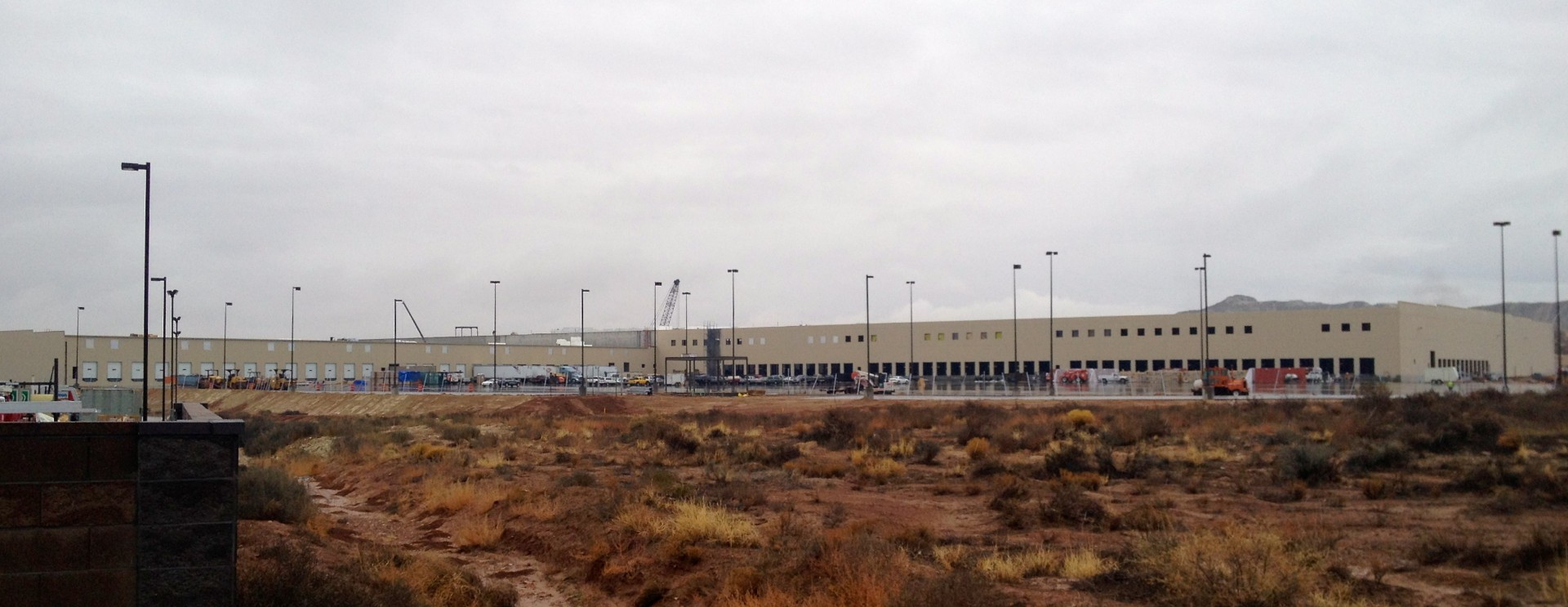 Family Dollar Distribution Center under construction in Fort Pierce Industrial Park, St. George, Utah, Dec. 14, 2012 | Photo by Sarafina Amodt, St. George News