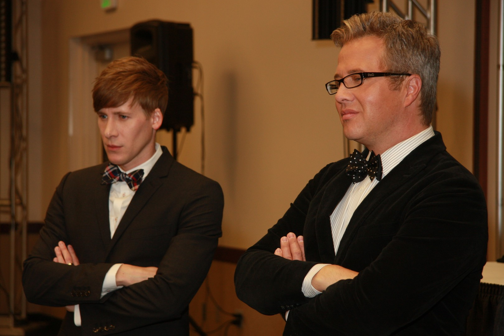 """L to R: Oscar award winner  for """"Milk"""" and keynote speaker, Dustin Lance Black,  ----. Equality Celebration: Come out for Equality at Dixie Center St. George, St. George, Utah, May 18, 2013 