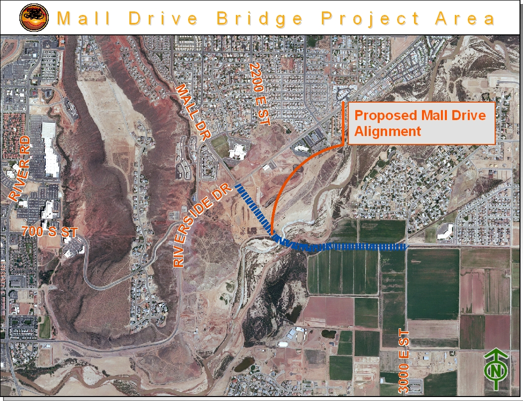 Proposed Mall Drive Bridge | Image courtesy of City of St. George, http://www.sgcity.org/traffic/project.php?id=27
