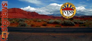 Old Highway 91 and the Red Mountain, Ivins, Utah, July 27, 2012 | Photo and image composite by Alexa Verdugo Morgan, St. George News