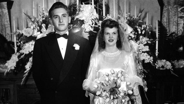 President Monson with his wife, Frances, on their wedding day, Salt Lake City, Utah, Oct. 7, 1948 | Photo courtesy of the Church of Jesus Christ of Latter-day Saints