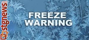 freeze-Warning