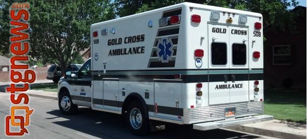 Gold Cross Ambulance truck | Photo by Joyce Kuzmanic, St George News
