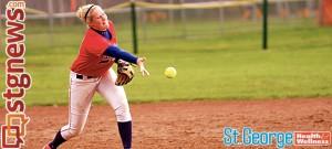 Dixie State University senior Johnna Brown, women's softball, St. George, Utah, 2012-13 | Photo by Julie Buchanan, St. George Health and Wellness and St. George News