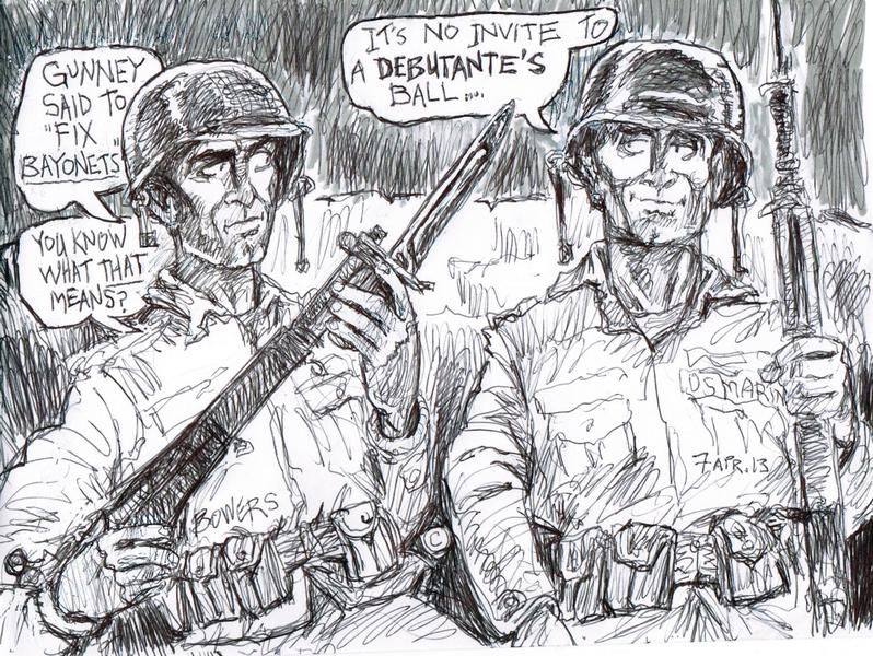 Memorial Day Tribute May 2013 | Drawing by Stephen Bowers STGnews.com