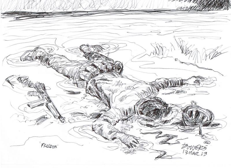 Memorial Day Tribute May 2013 | Drawing by Stephen Bowers, St. George News