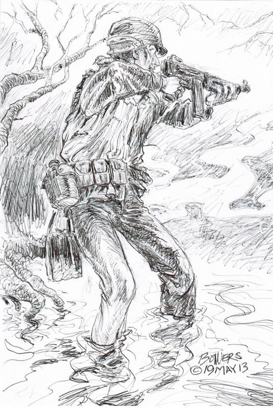 Memorial Day Tribute May 2013   Drawing by Stephen Bowers, St. George News