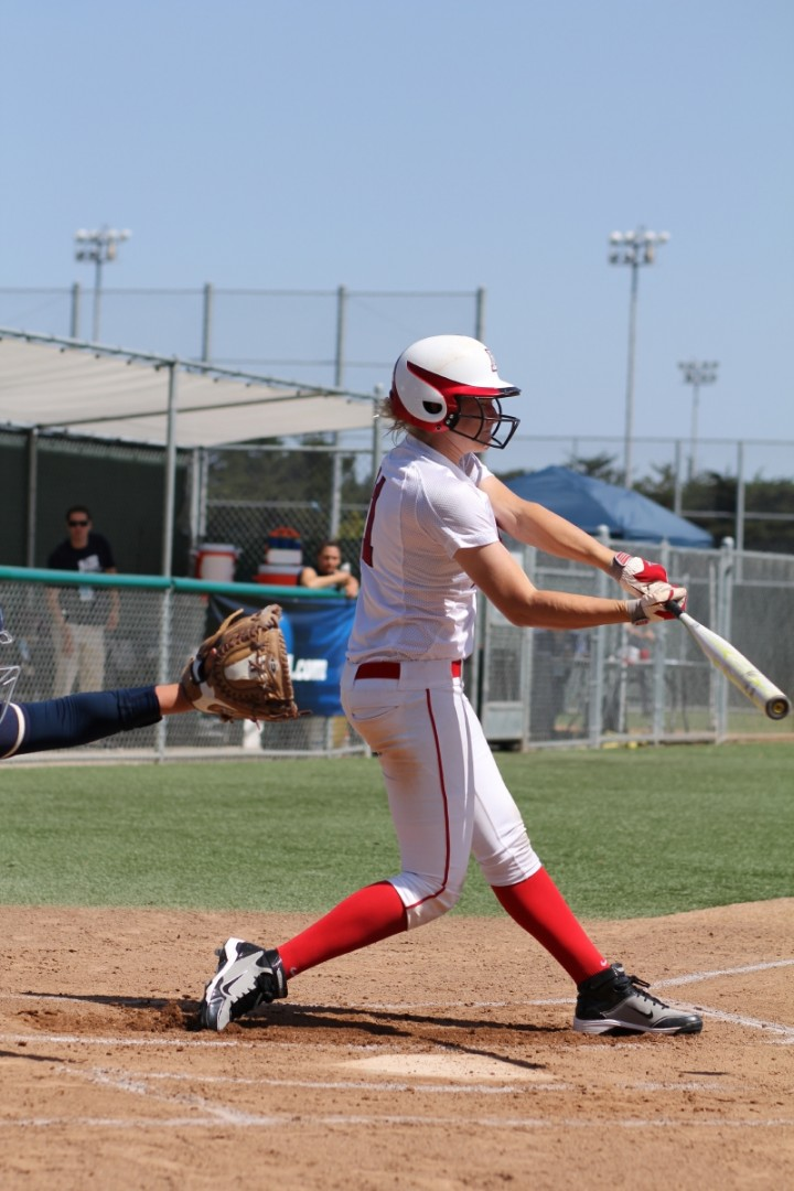 Johnna Brown plays for Dixie State University women's softball, St. George, Utah, 2012-13 | Photo by Stan Plewe, St. George Health and Wellness and St. George News