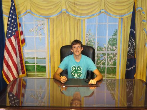 Kaydn Ence at the White House, Washington, D.C., April 9, 2013 | Photo courtesy of Paul Hill
