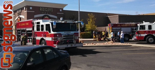 A storage room of the Christopher & Banks clothing store caught fire at the Red Cliffs Mall, St. George, Utah, May 4, 2013 | Photo by Mori Kessler, St. George News