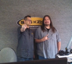 Jon Smith (left) and Murphy (right) of Mornings with Jon Smith and Murphy on KZHK 95.9 FM, St. George, Utah, May 18, 2013| Photo by Mori Kessler, St. George News