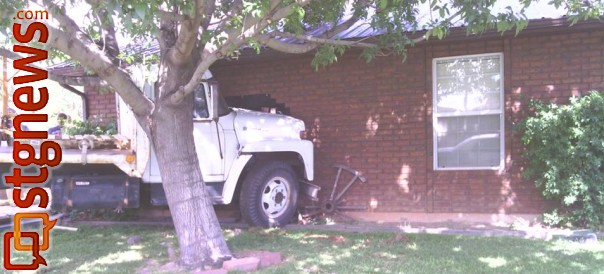 A runaway truck crashed into the side of a home in Washington. No injuries were reported, Washington, Utah, May 29, 2013 | Photo courtesy of Sindy Elamrani, St. George News
