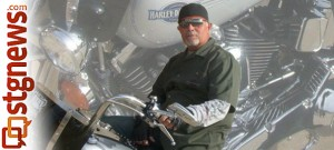 Steve Zohner and his motorcycle, location and date unknown   Photo courtesy of Lisa Zohner