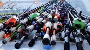 Rods and reels. Donated by Organizer Steve Miller to Fish-N-Fun, Sand Hollow Reservoir, Hurricane, Utah, June 8, 2013 | Photo by Chris Caldwell, St. George News