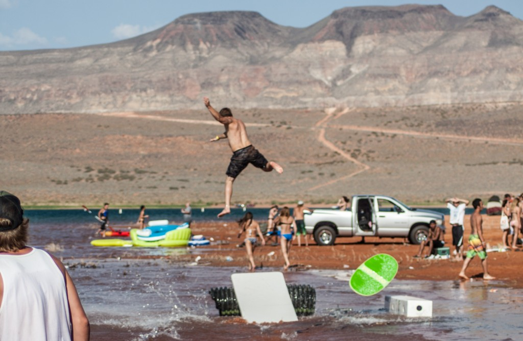 Summer mayhem hits sand hollow stgnews videocast and photo gallery st george news for Sand hollow swimming pool st george