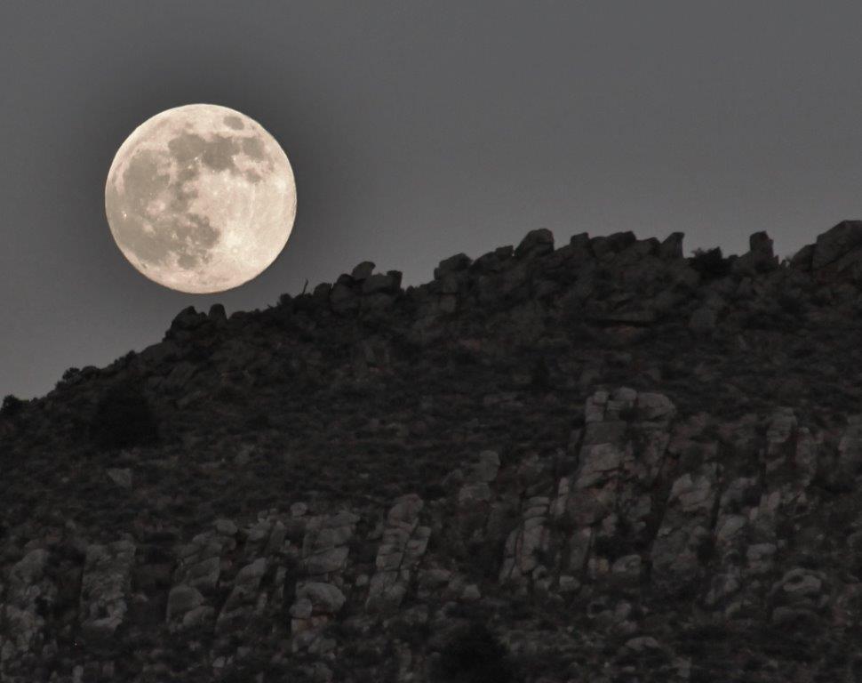 Summer Solstice Sunset Observation Program at the Parowan Gap, Supermoon, Parowan, Utah, June 23, 2013 | Photo by Ron Olroyd, St. George News
