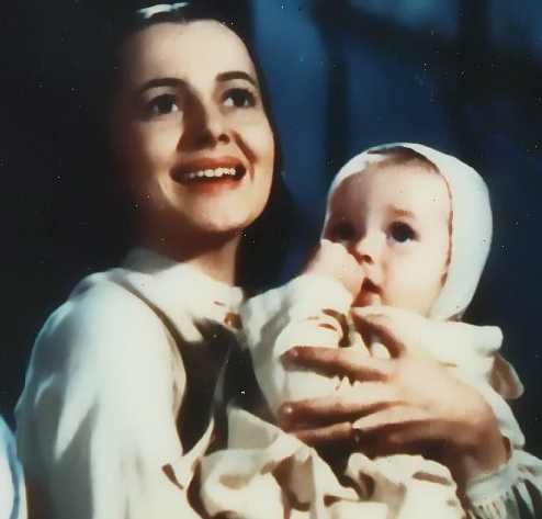 "L-R: ""Melanie,"" played by Olivia De Havilland, ""Baby Beau,"" played by Patrick Curtis, in ""Gone With the Wind"" 