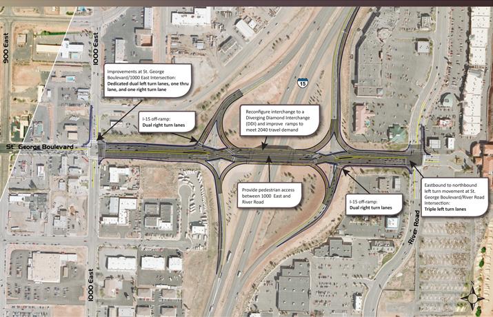 Project map Exit 8 I-15 Interchange | Image courtesy of UDOT