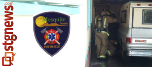 Mesquite Fire and Rescue responds to vehicle fire in a carport of a residence on Gean Street, person suffering from smoke inhalation, Mesquite, Nev., June 28, 2013 | Photo courtesy of Mesquite Fire and Rescue, St. George News