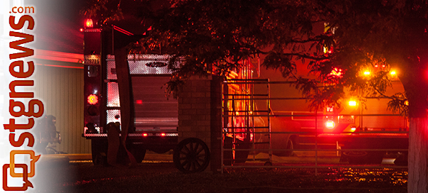 The St. George Fire Department responds to a structure fire at 2162 East 2800 South in the Little Valley area, St. George, Utah, June 14, 2013 | Photo by Chris Caldwell, St. George News
