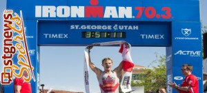 2013 Ironman 70.3 St. George winner Brent McMahon, St. George, Utah, May 4, 2013 | Photo by Chris Caldwell, St. George News