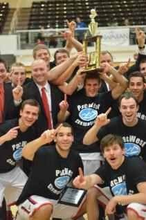 Dixie State's men's basketball team won the inaugural PacWest Tournament. | Photo courtesy Dixie State athletics
