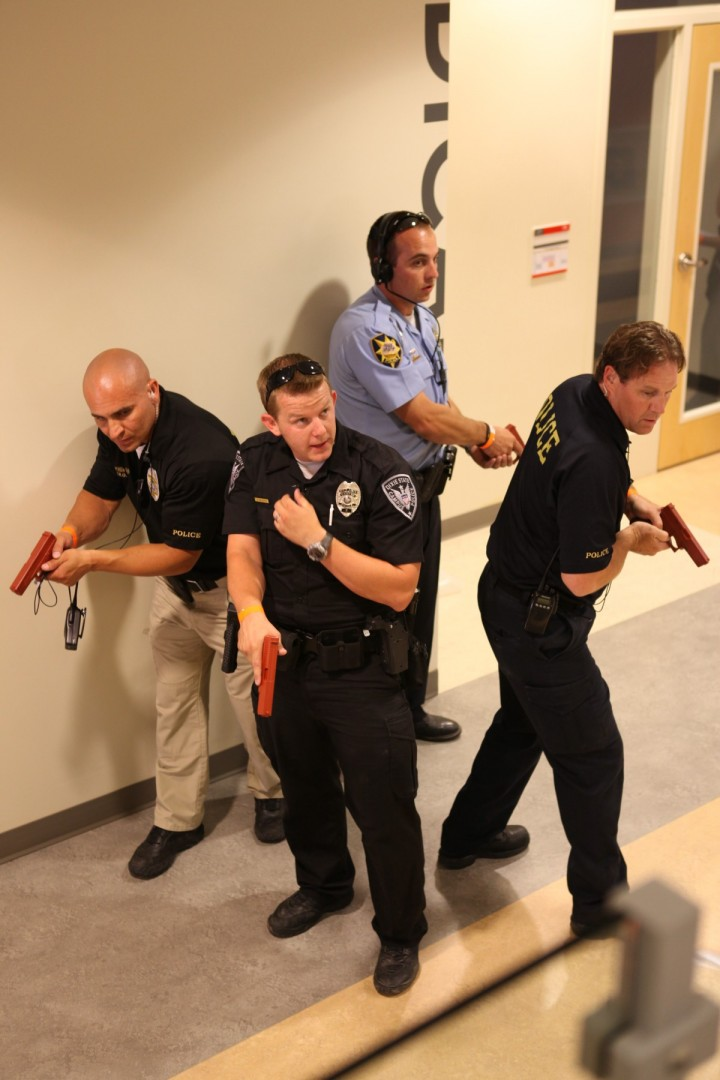 Dixie State University, Dixie Regional Medical Center and the St. George Police Department held a mass-shooting exercise at DSU's Russell C. Taylor Health Science Building in order to better prepare for when such a scenario may occur in the future, St. George, Utah, June 14, 2013 | Photo courtesy of Terri Draper, Intermountain Healthcare