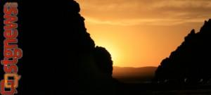 Sunset at the Parowan Gap, Parowan, Utah, undated | Photo courtesy of Parowan Heritage Foundation
