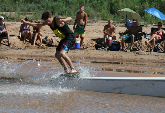 Skimboarders compete at the 2012 Virgin River Skimboard Classic, St. George, Utah, June 30, 2012 | Photo courtesy of City of St. George