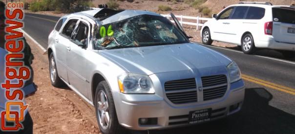 Accident On I Cottonwood Falling On Car