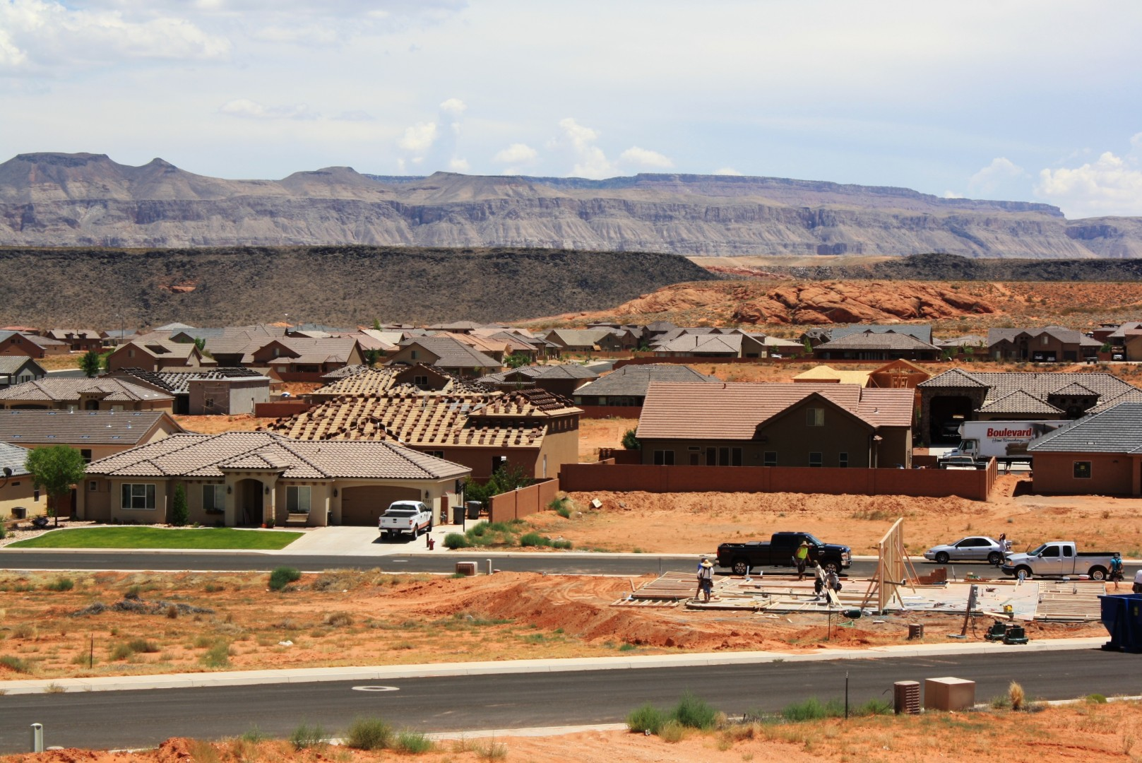 A street in Dixie Springs with homes in various stages of construction, Washington County, Utah, July 25, 2013 | Photo by Reuben Wadsworth, St. George News