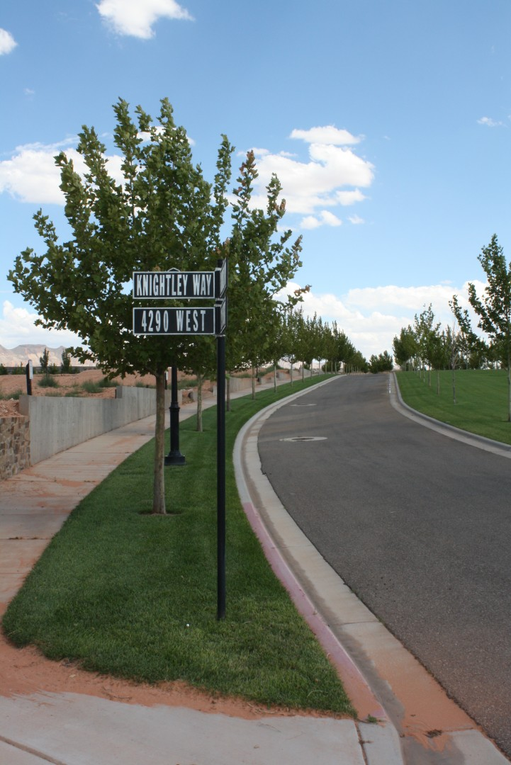 The developer chose European-sounding street names for Elim Valley, Hurricane, Utah, July 29, 2013 | Photo by Reuben Wadsworth, St. George News