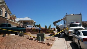 Police investigate the deaths of two people found dead in their home, St. George, Utah, July 29, 2013   Photo by Mori Kessler, St. George News